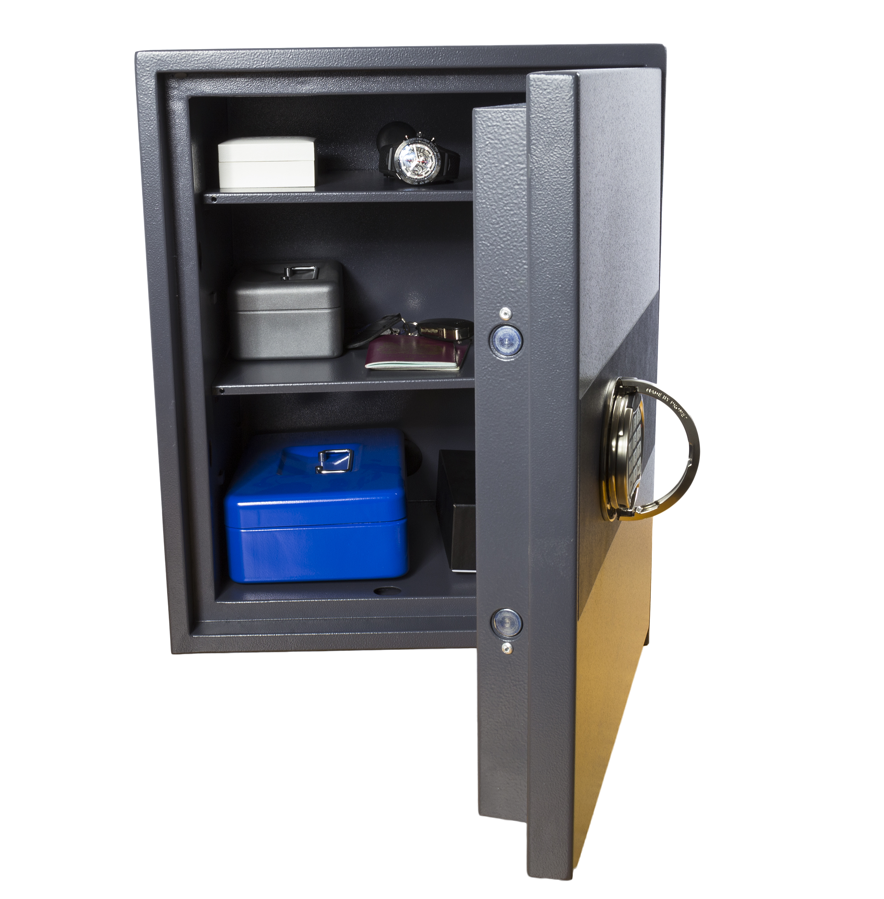 Large security safe open
